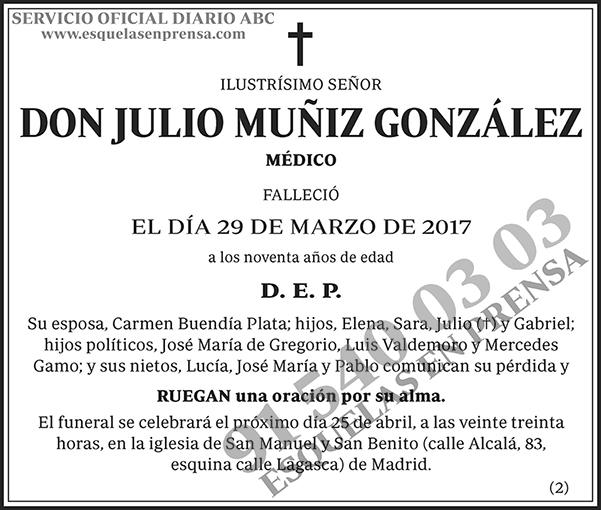 Julio Muñiz González